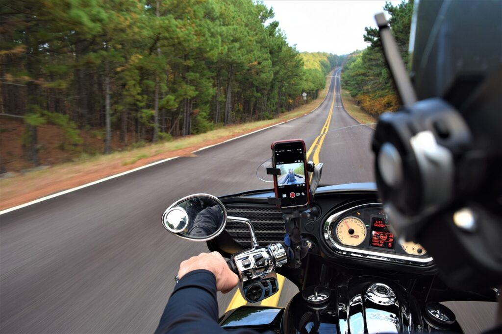 motorcycle, road trip, road