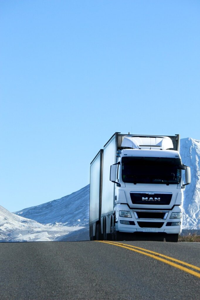 truck, road, vehicle